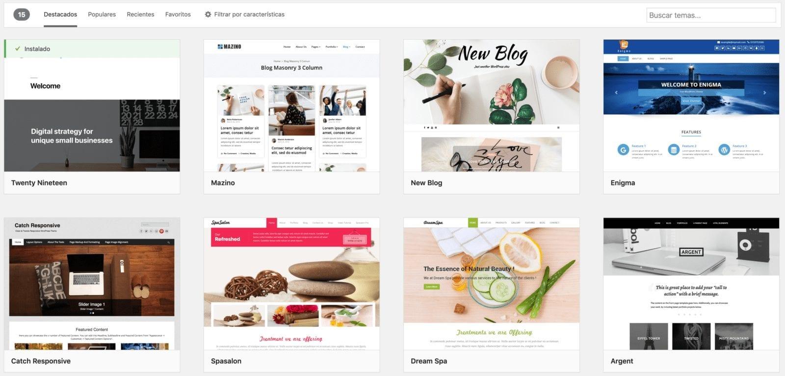Descargar WordPress e instalar tema/plantilla